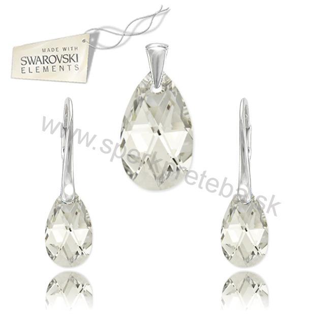 5012f2440 šperk,Swarovski,elements,set,slza 16mm,Crystal CAL V SI ,striebro