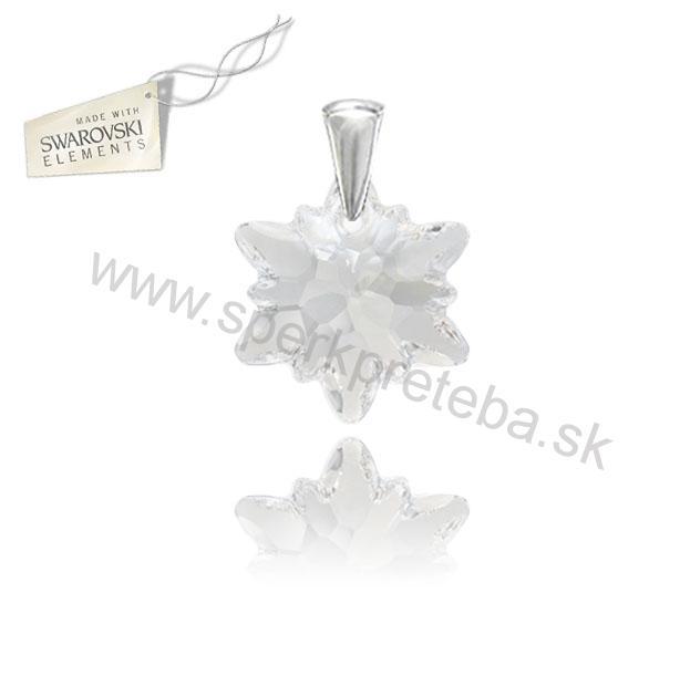 Swarovski prívesok alpský kvet Edelweis priesvitnej farby Crystal 2a465df2c27