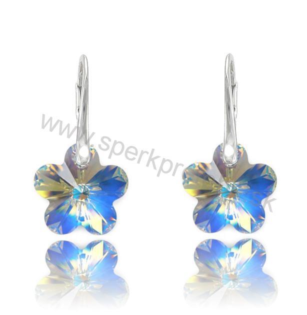 Swarovski náušnice kvetinka dúhovej farby Crystal AB 247b0c40eb4