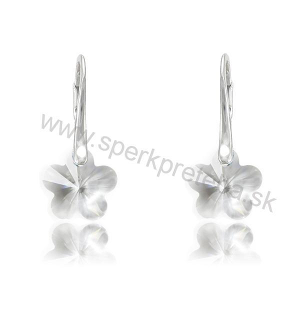 Swarovski náušnice kvetinka 12mm bielej farby Crystal 515279d2b0a