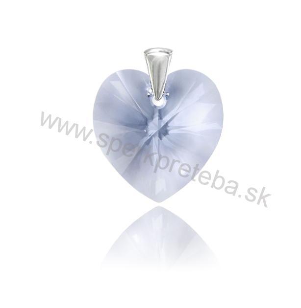 Strieborný prívesok srdce Provence Lavender 770e3b22f0c