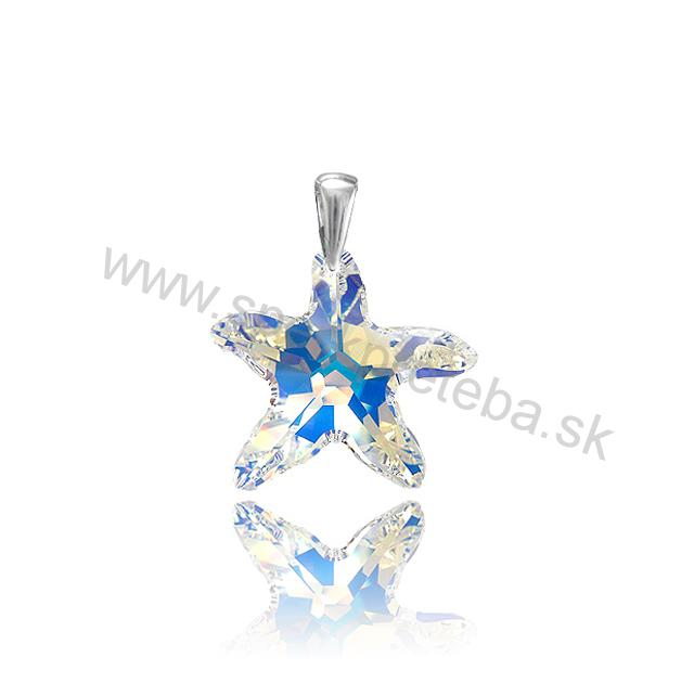 Swarovski prívesok Hviezdica dúhovej farby Crystal AB e2dd5201bf6