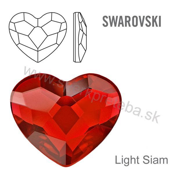 Swarovski napichovacie náušnice srdiečko červenej farby Crystal Siam.  skladom b3f7e024999