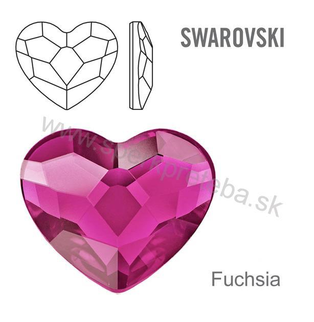 Swarovski napichovacie náušnice srdiečko ružovej farby Fuchsia. skladom 05c2023f7df