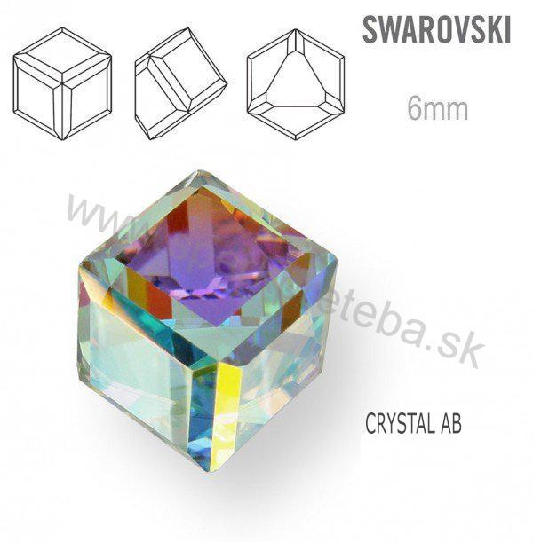 6d23275b4 Swarovski napichovacie náušnice kocka dúhovej farby Crystal AB. skladom